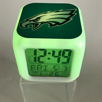 Philadelphia Eagles LED Digital Alarm Clock Watch Lamp Decor Carson Wentz Gift