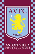 Aston Villa FC EPL Football Soccer Team Crest Logo Soccer POSTER