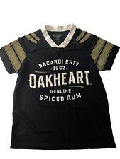 Bacardi Oakheart Rum Sports Jersey - Women's Medium - Black - NEW