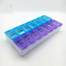 Weekly 14 Grids Pill Box Case Medicine Tablet 7 Day Organizer Holder Container