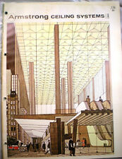 ARMSTRONG CORK CO. Perforated ASBESTOS Board Ceiling Tile Catalog 1960's