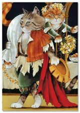 Victorian CAT Bride kidnapping FUNNY by Susan Herbert NEW Modern Postcard