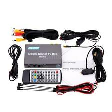 Vehicle Car Mobile Digital DVB-T TV Receiver Box Double Tuner With 2 Antenna