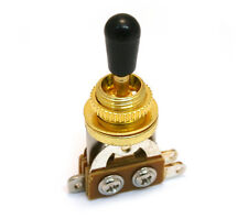 Gold Short Straight 3-way Pickup Toggle Switch for Guitar/Bass EP-0066-002
