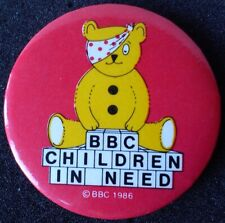 1980s/1990s BBC Children In Need PUDSEY Bear CHARITY Button BADGE TV Television
