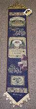 The Estate Collection ~ Vineyard Grapes Tapestry Wall Hanging Bellpull