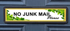 Green Leaves Polite No Junk Mail Letterbox Leaflet Menus Flyers Door Sticker