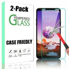 2 Pack For LG Stylo 4/5/Stylo 6 HD Clear Premium Tempered Glass Screen Protector