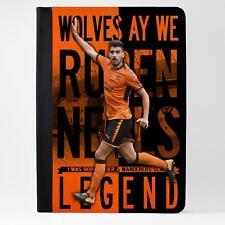 Tableta iPad caso de cuero Neves Wolverhampton cubierta de la leyenda del fútbol LG66