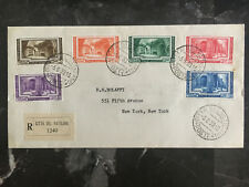1939 Vatican cover to USA  Multi Franked # 55-60 Complete Set