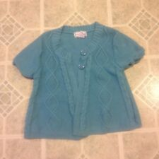 Girl's Kobe girl Blue Two-Button Sweater