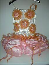 Vestito Abito Dress Carnevale TORTA FIORI c/cappello Anni 10 Bimba girl