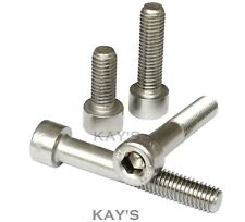 M4, M5, M6, M8, M10 SOCKET CAP SCREWS A2 STAINLESS STEEL ALLEN KEY BOLTS DIN 912