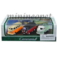 CARARAMA 71308 VW VOLKSWAGEN BUS VAN T1 PICK UP 1/72 DIECAST MODEL 3 CARS SET