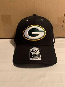 Green Bay Packers NFL '47 Brand Carhartt Mens Black MVP Adjustable Hat