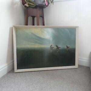 Original 60s Mid Century Mario Bordi Freedom of the Plains Horses Print Picture