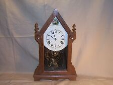 Vintage Seikosha Shelf Kitchen Mantle Clock Japan Early Key wound