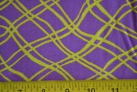 By 1/2 Yd, Yellow on Purple Quilting Cotton, N1288