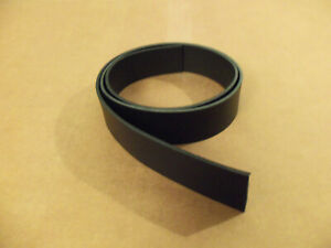 "8/9 oz Black Leather Belt Blank 44""-52"" (Various Widths)"