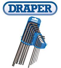 Draper 10 Piezas Extra Largo Métrico Bola Hexagonal Final / Juego de Llaves