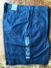 NWT Men Nautica Classic Fit Cotton-Linen Blend Short Navy Size 33/34/35/36/38/40