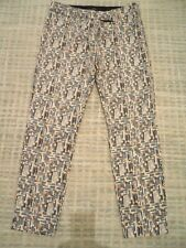 Next 3/4 Length Patterned Trousers Size 10