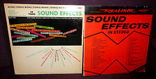 2 x REALISTIC EARLY 70s US SOUND EFFECTS VINYL LPs DLP-166 mono / 50-2018 stereo