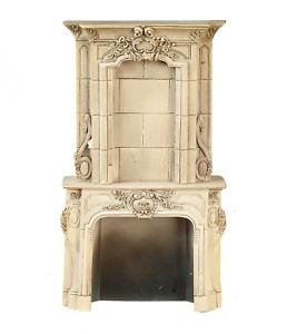 Dolls House Grey Victorian Fireplace Surround Miniature Resin Furniture 1:12