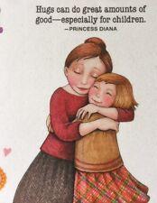 Mary Engelbreit Artwork-Hugs Can Do Great-Handmade Fridge Magnet
