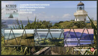 New Zealand NZ Lighthouses Stamps 2020 MNH NZ2020 Architecture Landscapes 3v M/S