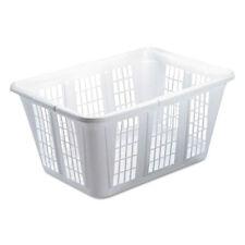 Rubbermaid Laundry Basket 10 7/8w x 22 1/2d x 16 1/2h Plastic White 8/Carton
