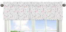 Window Treatment Valance Curtain for Sweet Jojo Pink Unicorn Toile Girl Bedding