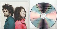 JOAN AS POLICE WOMAN & BENJAMIN LAZAR DAVIS Broke Me In Two 1-track promo CD