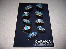 Kabana Turquoise Rings from Mati of Alaska Ketchikan Advertising Postcard