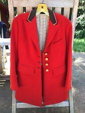 Ladies Scarlet Wool Fox Hunting Coat Custom  M J Knoud NYC