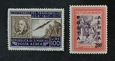 CKStamps: Italy Stamps Collection San Marino Scott#C55 C56 Mint LH OG