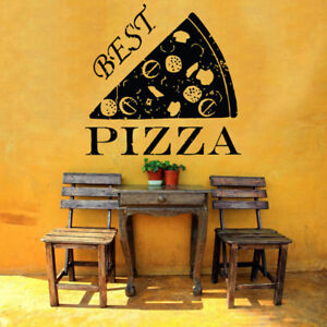 Wall Vinyl Art Sticker Pizza Italian Restaurant Pizzeria Food Window Decor hi147