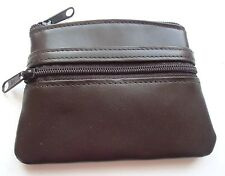 Ladies Buxton Genuine Leather Double Coin Zipper Purse, Brown