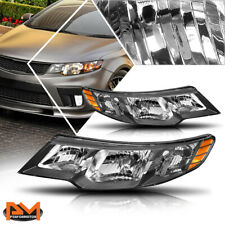 For 10-13 Kia Forte Koup Direct Replacement Headlight/Lamps Amber Corner Black