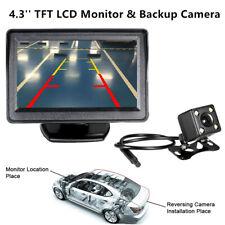 Car Backup Camera Rear View Night Vision Cam & Foldable 4.3