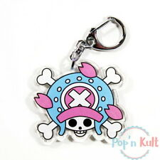 One Piece Tony Tony Chopper Skull Acrylic Keychain Keyholder Anime Goodies VGC