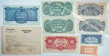 Czechoslovakia 1,5,20,20,100,100,500,1000 Soviet Occupation Specimen + bonus
