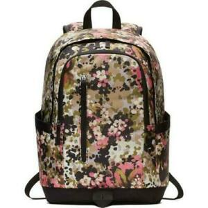 NWT Nike ALL ACCESS SOLE DAY BACKPACK Travel Gym School Bag GREEN FLORAL  BA6366