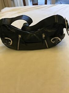 GENUINE DKNY BLACK LEATHER HANDBAG