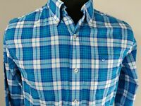 Southern Tide Club Mens Long Sleeve Button Down Shirt Size S Small Plaid Blue
