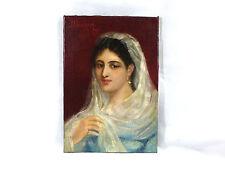 DINORAH portrait peinture Image Huile sur toile 19 e siècle. Signé collection résolution