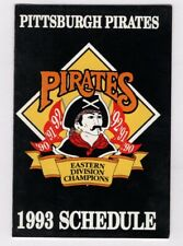 1993 PITTSBURGH PIRATES POCKET SCHEDULE MLB Baseball Giant Eagle