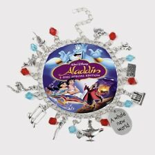 NEW Aladdin Silver Plated Charm Bracelet - Perfect Gift for Christmas
