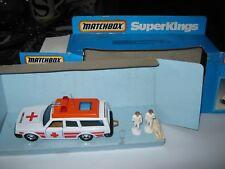 MATCHBOX K96 VOLVO Ambulanza SUPERKINGS MOLTO BUONO ORIGINALE Set Nuovo di zecca AUTO goodbox
