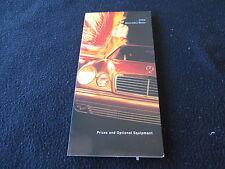 1996 Mercedes Benz Price Brochure C36 AMG S420 S500 S600 Coupe Sedan SL600 SL500